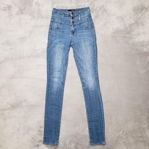 Refuge High Waist Washed Skinny Jeans